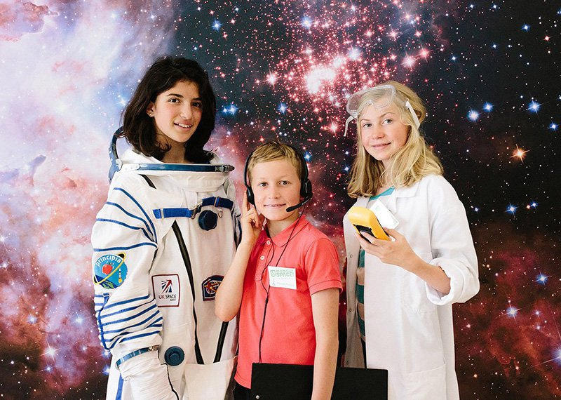 Kids ready for space travel