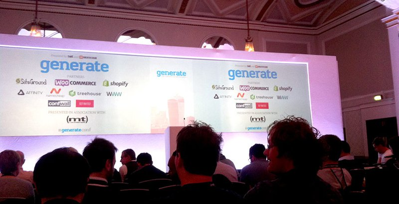 At Generate Conference